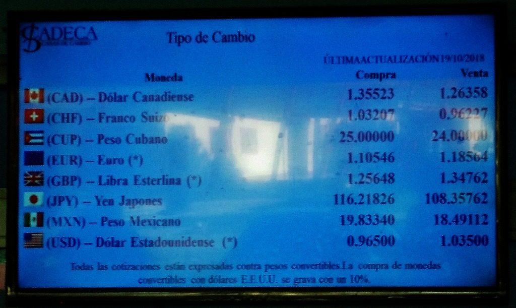 キューバ 両替所 レート