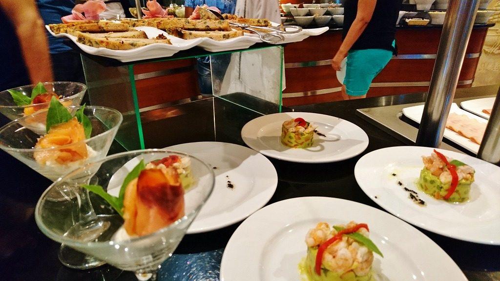 ハバナのホテル 朝食
