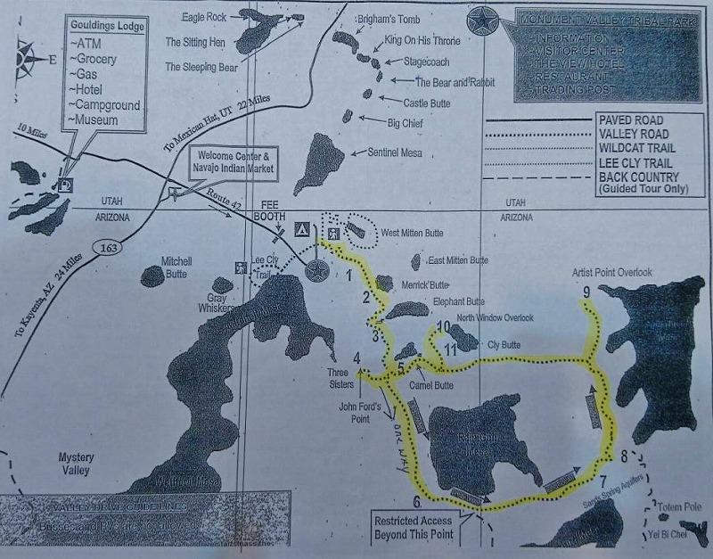 モニュメントバレー 地図