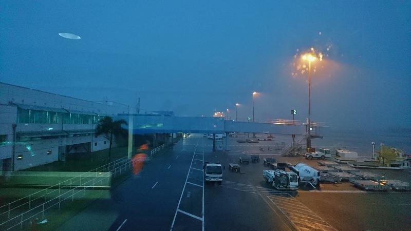 ケアンズ空港 国際線ターミナル 1番ゲート ニューギニアエアー ポートモレスビー行き