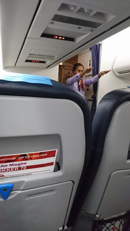 ニューギニアエアー ポートモレスビー ニューギニア航空 機内