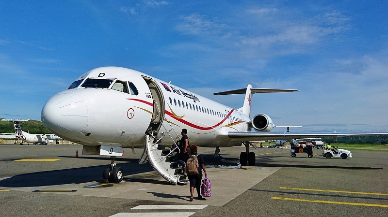 ラバウル行き ニューギニアエアー ポートモレスビー空港 国内線ターミナル