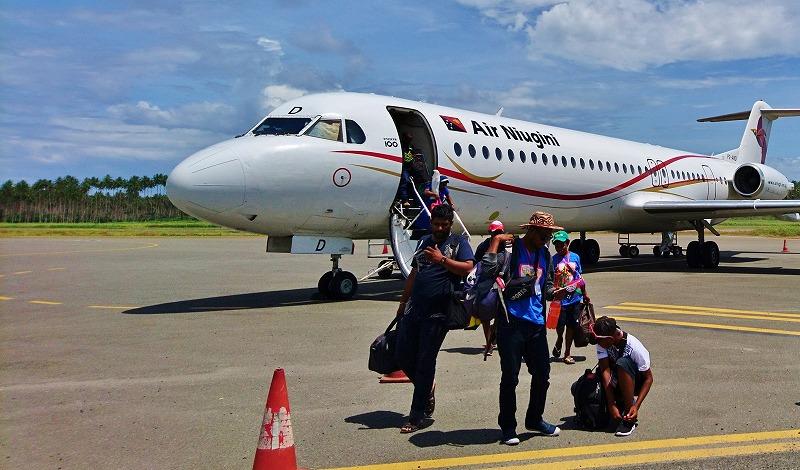 ニューギニアエアー ラバウル到着