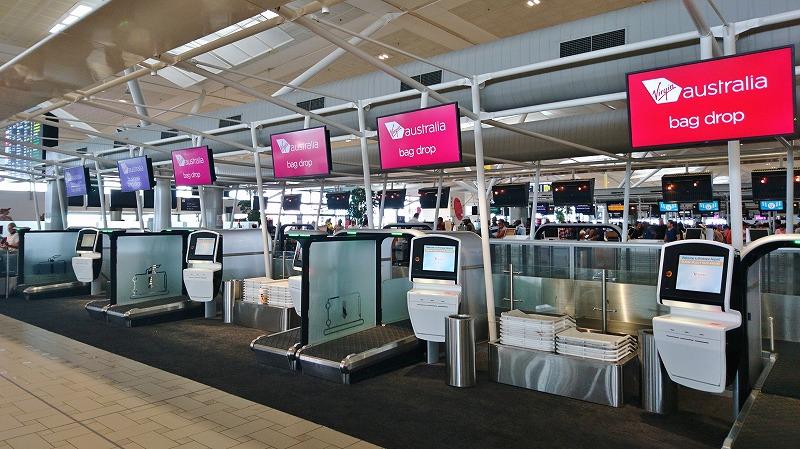 ブリスベン空港 国際線ターミナル virgin australia航空 チェックイン
