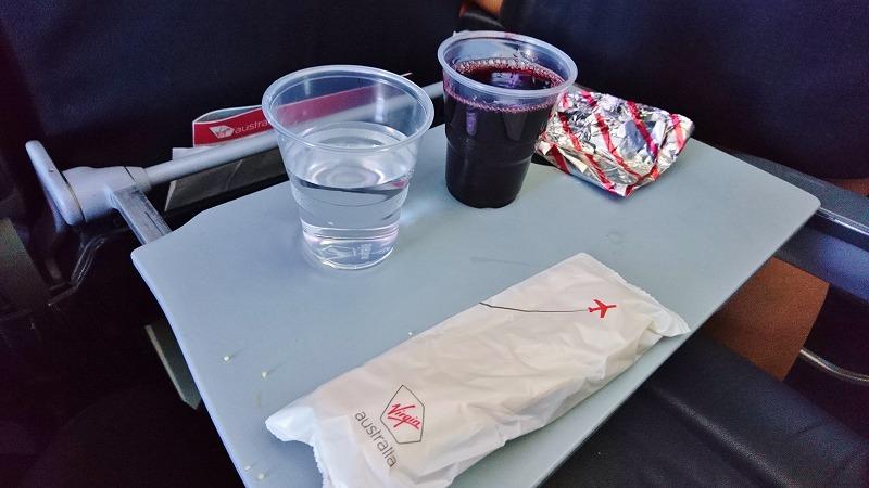ヴァージン・オーストラリア航空 機内食 国際線 virgin australia