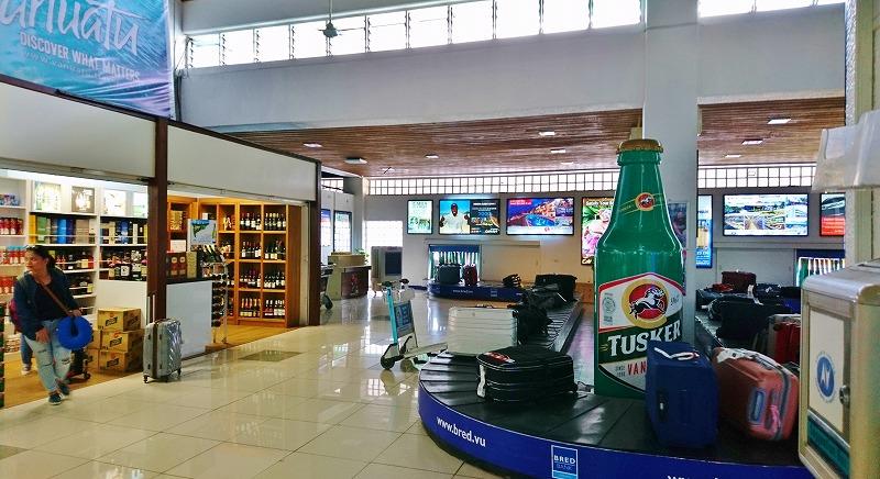 バヌアツ ポートビラ国際空港 到着ロビー 国際線