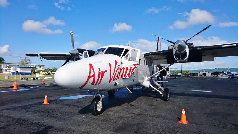 タンナ島 行き方 バヌアツ航空 機材 dash-6