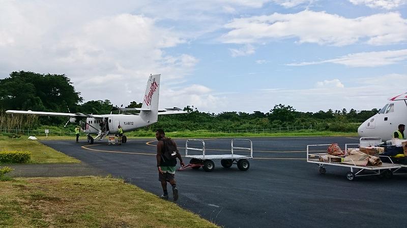 バヌアツ航空 タンナ島