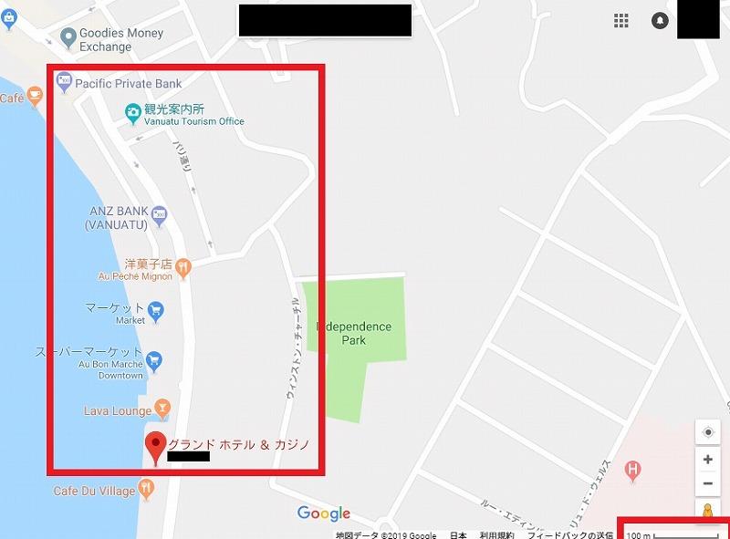 バヌアツ 地図 ダウンタウン ポートビラ