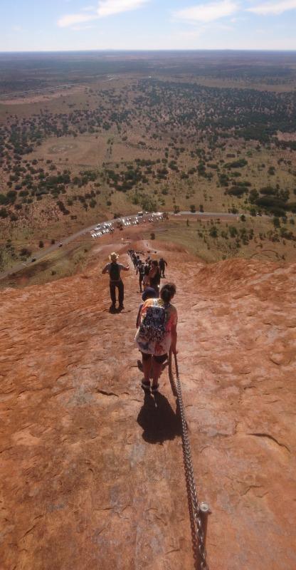 エアーズロック 登山 登頂 行き方 一人旅